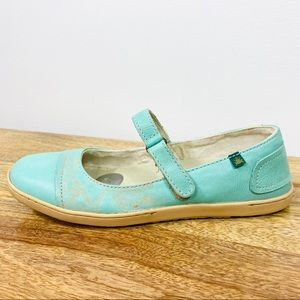 El Naturalista Mary Jane Shoes Blue Leather Sz 38